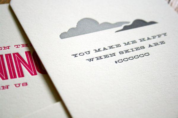 Typography valentines. Awwwww.