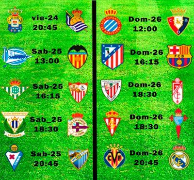 La Liga Full: Horario Jornada 24