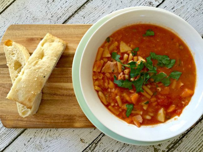 Mrs D plus 3 | Chunky Minestrone Soup In The Thermomix | http://www.mrsdplus3.com