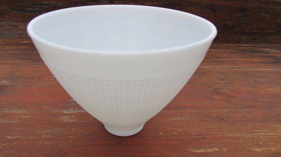 Vintage Corning 8 Inch Waffle Lamp Shade No 820120 Of Corning Lamp Milk Glass
