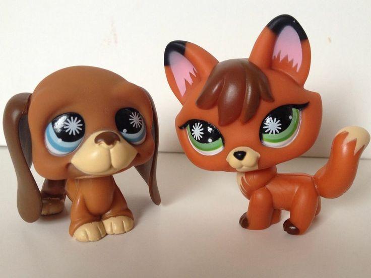 littlest pet shop fox and hound 807 808 dog lot happiest