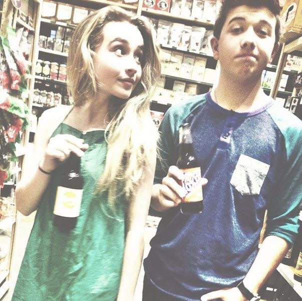 Photo: Sabrina Carpenter With Bradley Steven Perry Getting A Drink August 30, 2014
