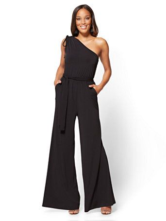 Shop One-Shoulder Jumpsuit. Find your perfect size online at the best price at New York & Company.