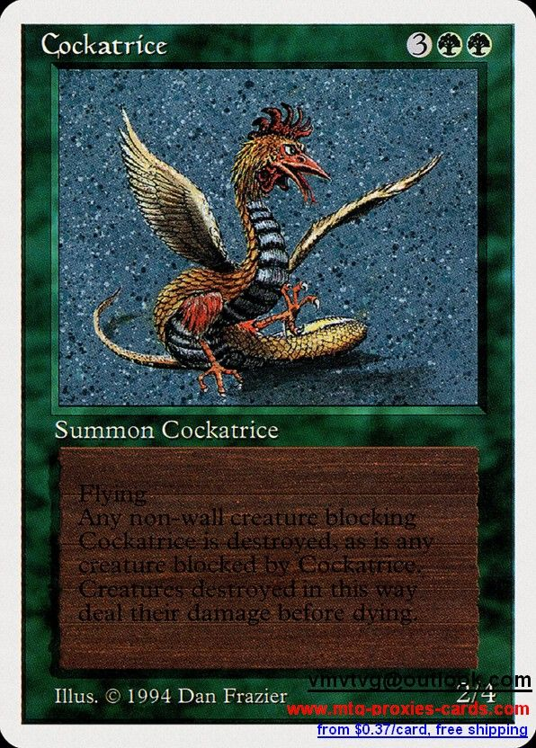 Cockatrice.xlhq Magic The gathering proxy mtg proxies cards customize from 0.37$ free shipping SUM - Summer Magic (Edgar)