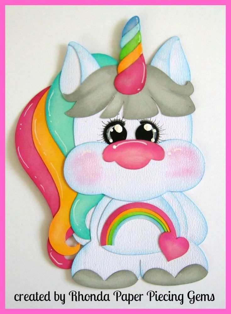 BABY UNICORN paper piecing for Premade Scrapbook Pages album die cut by Rhonda   Crafts, Scrapbooking & Paper Crafts, Pre-Made Pages & Pieces   eBay!