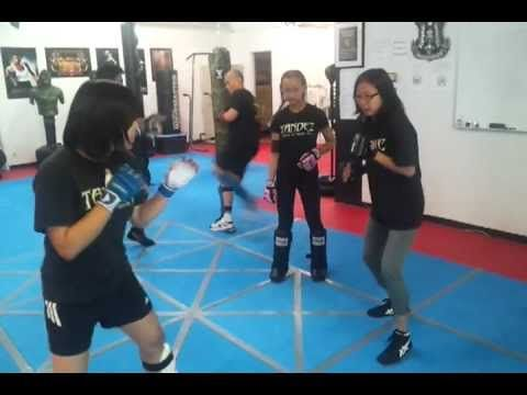 Filipino Kali Class Practicing Kicking Defense