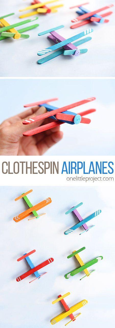 Diese Wäscheklammer Flugzeuge sind so lustig und super einfach zu machen. Alles was Sie brauchen sind …   – Fun Kids Craft Ideas