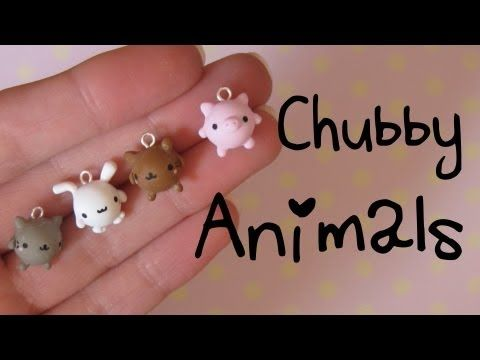 ▶ Chubby Animals Tutorial: Kitties, Bunny & Pig! Polymer Clay Charms. - YouTube
