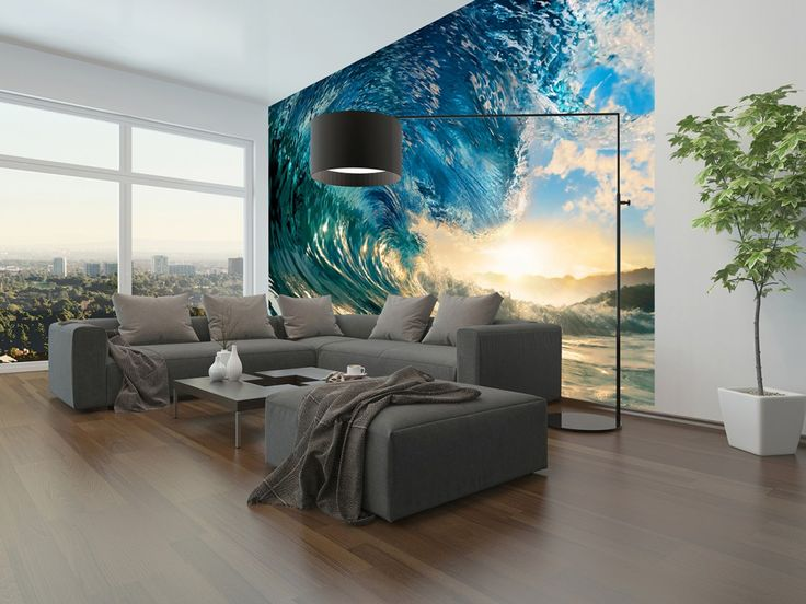 Non-Woven Wall Mural The Perfect Wave Premium Wall Murals Non-Woven Wall Murals 8-part