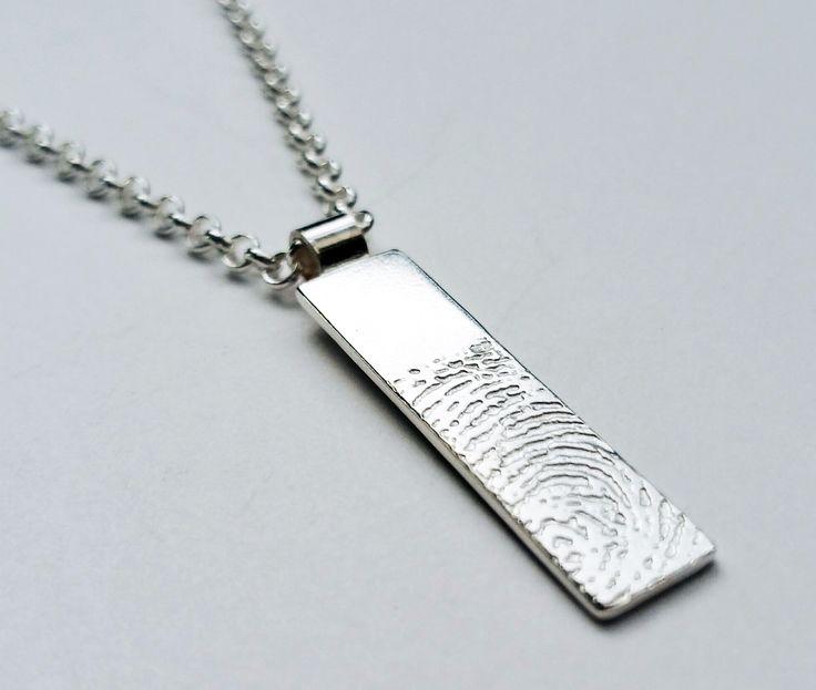Fingerprint Bar Pendant