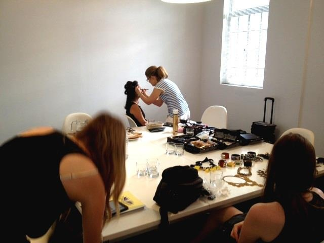 Behind the scenes with Jessika Allen and the INSTYLE team onsite at the JETS H.Q.  Issue out March 2013