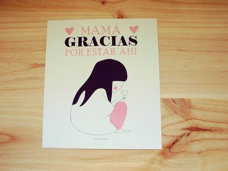 Mamá gracias por estar ahí, Lámina de agradecimiento Edición Especial Mamá #mamá #regalo #lamina #deco #love #Diadelamadre #MothersDay