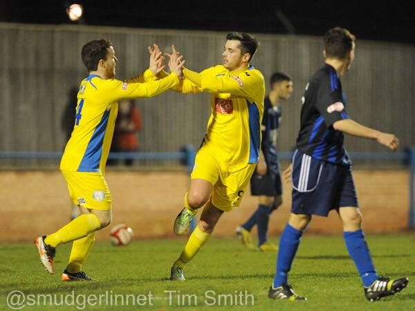 Sam Mulready,  Rob Duffy for King's Lynn Town FC v Worksop Town 10 /12/13