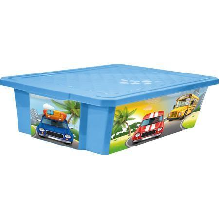 """Little Angel Ящик для хранения игрушек """"X-BOX"""" City Cars 30л на колесах, Little Angel, голубой  — 750р.  Ящик для хранения игрушек """"X-BOX"""" City Cars 30 л на колесах, Little Angel, голубой изготовлен отечественным производителем . Выполненный из высококачественного пластика, устойчивого к внешним повреждениям и изменению цвета, ящик станет не только необходимым предметом для хранения детских игрушек и принадлежностей, но и украсит детскую комнату своим ярким дизайном. Он выполнен в голубом…"""