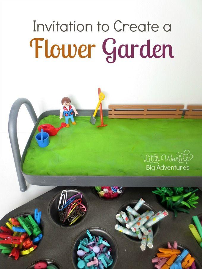 Invitation to Create a Play Dough Flower Garden