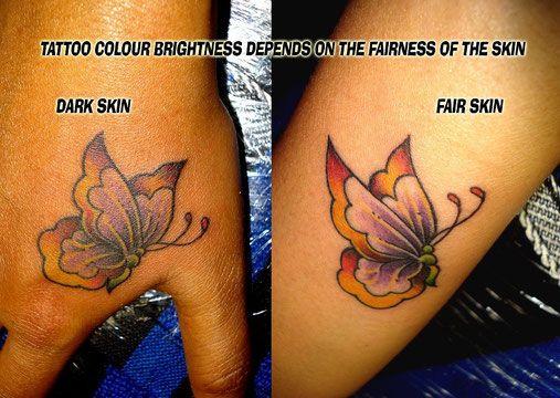 25 best ideas about dark skin tattoo on pinterest for Yellow tattoo on dark skin