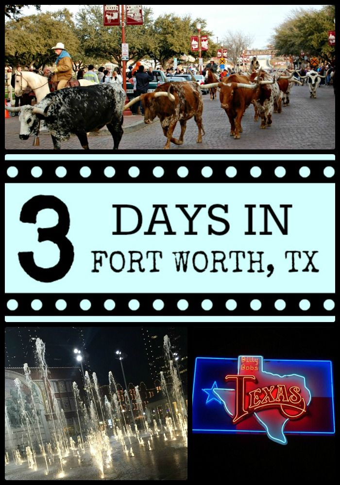 Great travel ideas for how to spend 3 days in Fort Worth, TX.