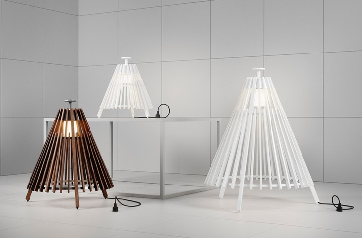 """Tipi Floor Lamp by ateljé Lyktan - """"Simplicity is important, it shouldn't feel too high-tech"""" says designer Mårten Cyrén of the tipi-shaped lamp   MONOQI"""