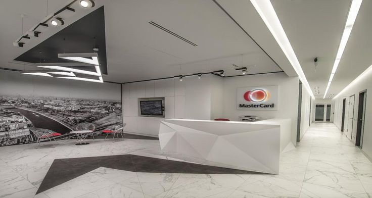 Reception of Mastercard's premises in Moscow, Russia