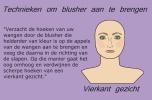 Het aanbrengen van blush of blusher op een ovalen, vierkant, rond of langwerpig gezicht