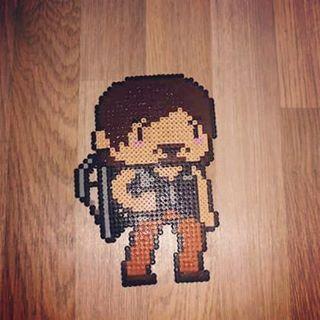 Daryl Dixon - The Walking Dead hama beads by Natari Wunderblume