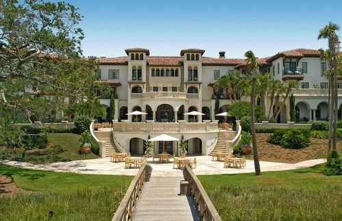 Cloister at Sea Island The Cloister at Sea Island — Sea Island, GA  Typically the only thing exciting about the drive between Jacksonville and Savannah is the thrill of cheap gas when you cross the state line. That is unless you're headed to Sea Island, a barrier island near Brunswick where this Mediterranean palace stands surrounded by three golf courses, a five-mile public beach, and spacious ocean villas.