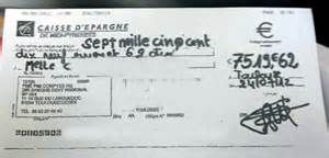 Recherche Comment remplir correctement un cheque. Vues 212722.