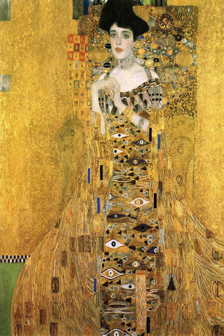 """Portrait of Adele Bloch-Bauer I"" - canvas print by Gustav Klimt"