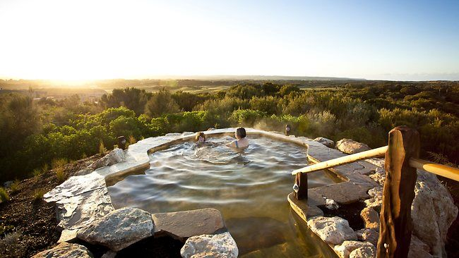 Yes please! Peninsula Hot Springs. Hot Springs in Rye is the only natural thermal mineral springs bathing and day spa facility in Australia.