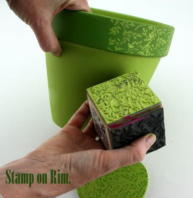 Image result for painting plant pots for christmas