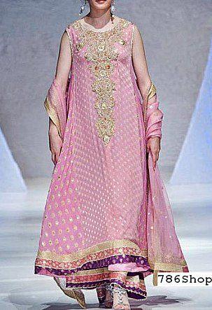 Pink Jamawar Chiffon Suit | Buy Pakistani Dresses Online in USA | www.786shop.com