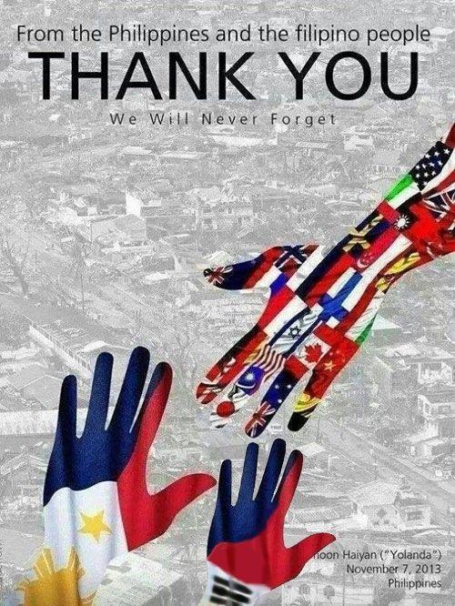 フィリピンの台風被害支援感謝ポスターに「太極旗がないぞ!」と韓国が激怒  → 修正案2  → wwwwww