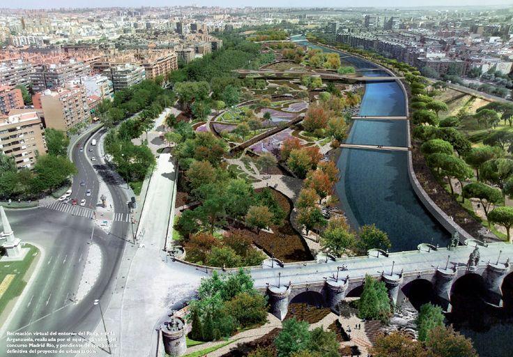 Parque Manzanares en Madrid
