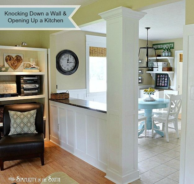 Creating An Open Kitchen And Dining Room: Best 25+ Half Wall Kitchen Ideas On Pinterest