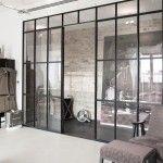 Stahl Glas Trennwand Raumteiler