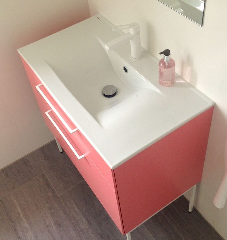 Swoon Side Vanity Unit, Sweet Rhubarb. Pic from Johanna.