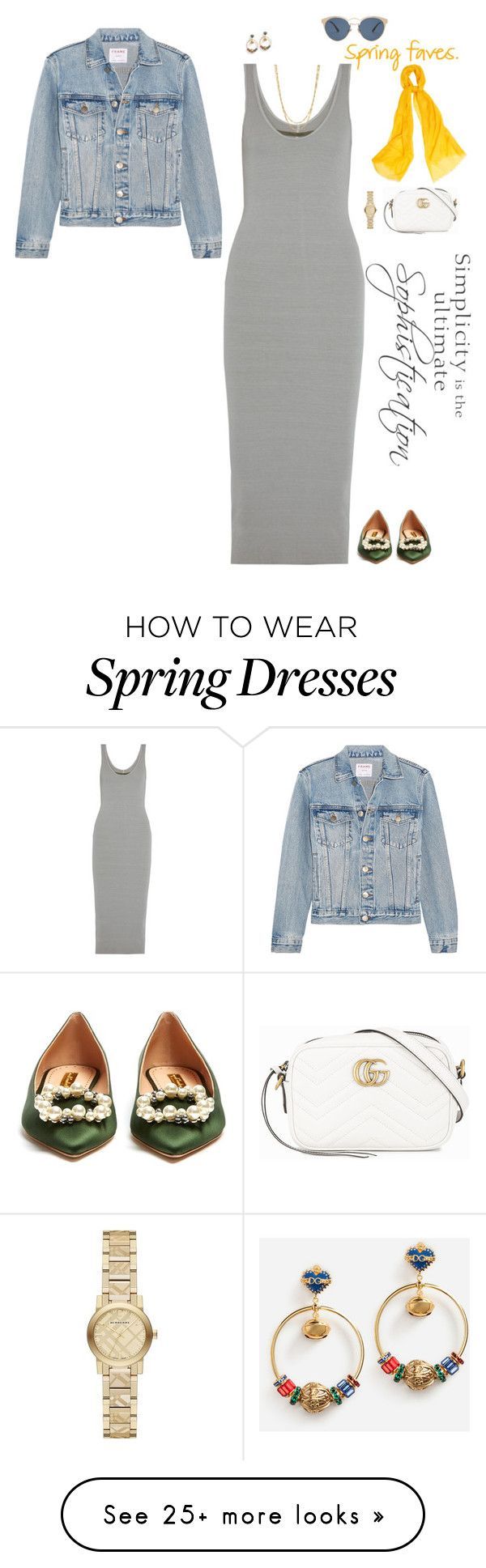 """""""Spring In The City"""" by jenily on Polyvore featuring Enza Costa, Rupert Sanderson, Frame, Gucci, Burberry, WtR, Dolce&Gabbana, WALL and Christian Dior"""