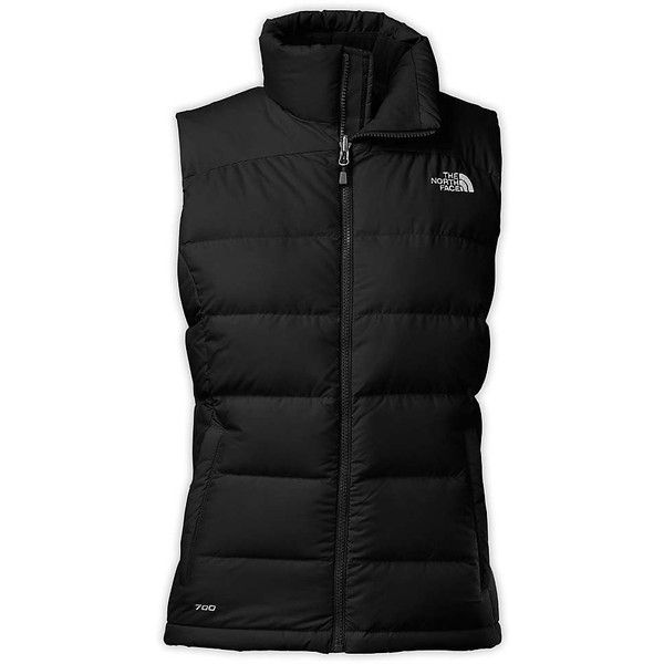 The North Face Women's Nuptse 2 Vest ($149) ❤ liked on Polyvore featuring outerwear, vests, jackets, coats, black, tnf black, the north face vest, cinch vest, zipper vest and insulated vest