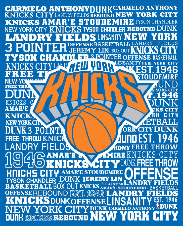 New York Knicks Typography