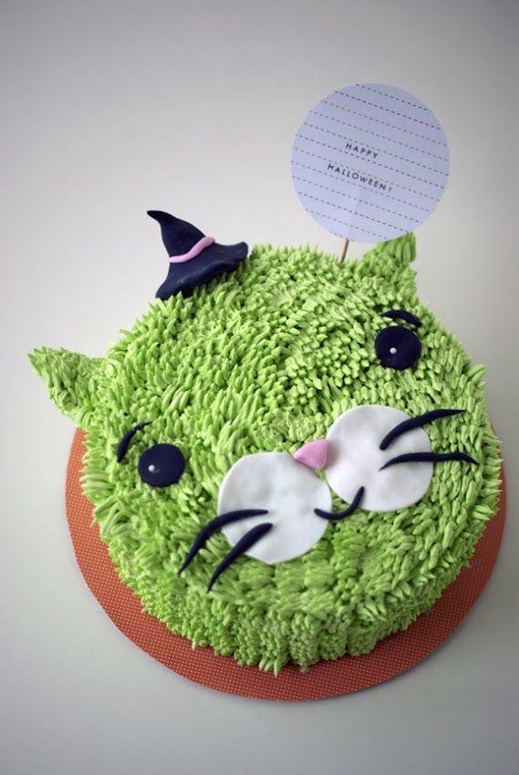 Halloween Kitty Cake