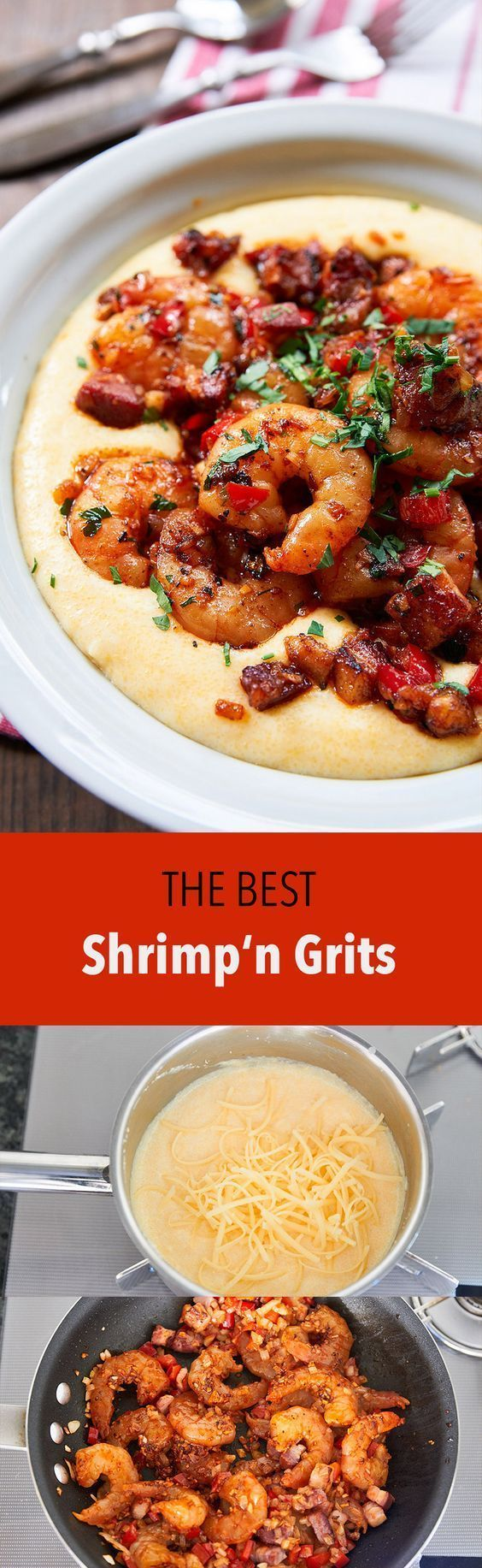 "Like any structure, constructing a great Shrimp and Grits requires a robust foundation. Cooking the grits in water makes them taste… well… watery. Cooking them in milk makes them rich and creamy, but they still taste pretty bland. To really take my grits over-the-top, I like to cook them in a 50:50 blend of chicken … Continue reading ""Shrimp and Grits"" * For more information, visit image link."