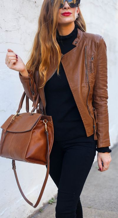 You're not new to this. Be true to this! Keep it classic and serve up biker chic vibes in our Devoted to This quilted faux leather jacket in tan. Devoted to This Quilted Faux Leather Biker Jacket in Tan featured by Enchanting Elegance Blog