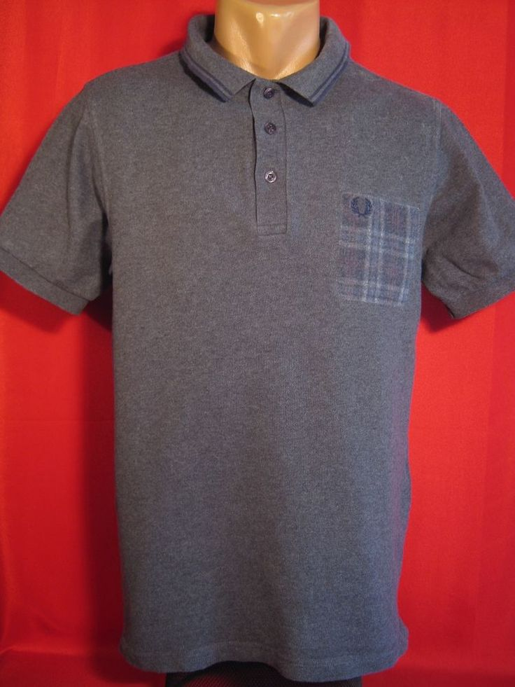 Authentic Fred Perry Men's Polo Shirt  Gray Size: L Large #FredPerry #PoloRugby