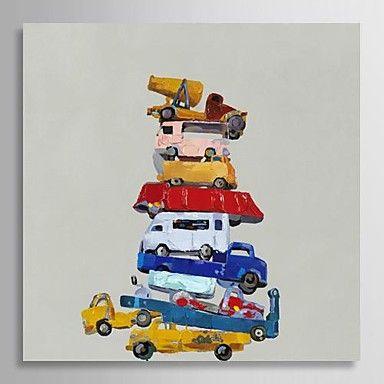 【今だけ☆送料無料】 アートパネル 静物画1枚で1セット 自動車 おもちゃ レッカー車 タンクローリー【納期】お取り寄せ2~3週間前後で発送予定