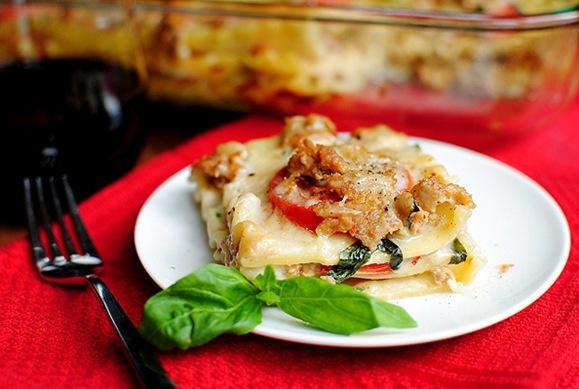lasagna with spicy turkey sausage: Summer Lasagna, Caprese Lasagne ...