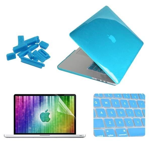 ENKAY Crystal Shell Keyboard Cover Screen Film Anti Dust Plug Set For Macbook Pr…
