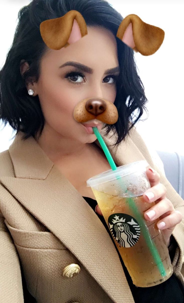 Demi Lovato on snapchat