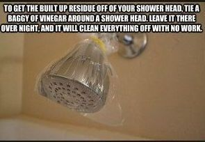 Cleaning showerheads