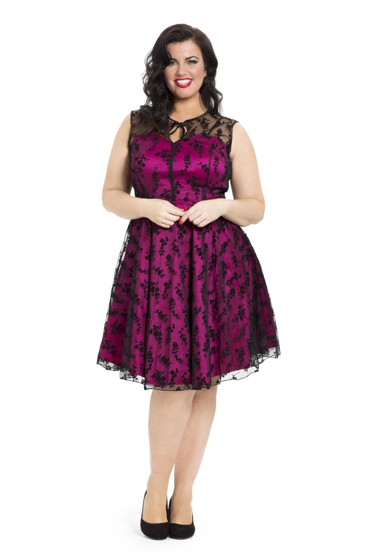 Our favourite party dress! An antique ruby colour overplayed with lace. Available online now in sizes 16-26 -->  http://www.claireabellascloset.co.uk/vintage/vintage-plus-size/product/1235-voodoo-vixen-hattie-ruby-lace-dress-8-24