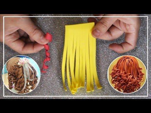 Tutorial : Técnicas para realizar pelo de foami (goma eva) para fofuchas / How to make foam hair - YouTube